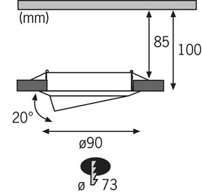 Подставка для светильника Uniel UFP-G03S White UL-00003282