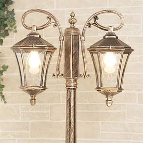 Садово-парковый светильник Elektrostandard Virgo F/2 черное золото 4690389064883