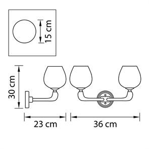 Накладной светодиодный светильник Gauss 843424218