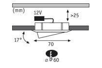 Встраиваемый светодиодный светильник Uniel ULP-6060 48W/6500К IP40 Universal White UL-00004589