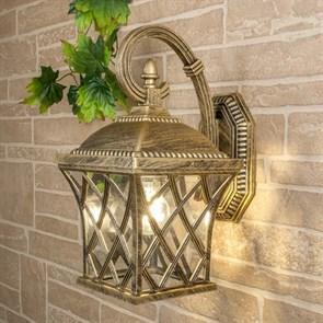 Уличный настенный светильник Elektrostandard Cassiopeya D черное золото 4690389017315